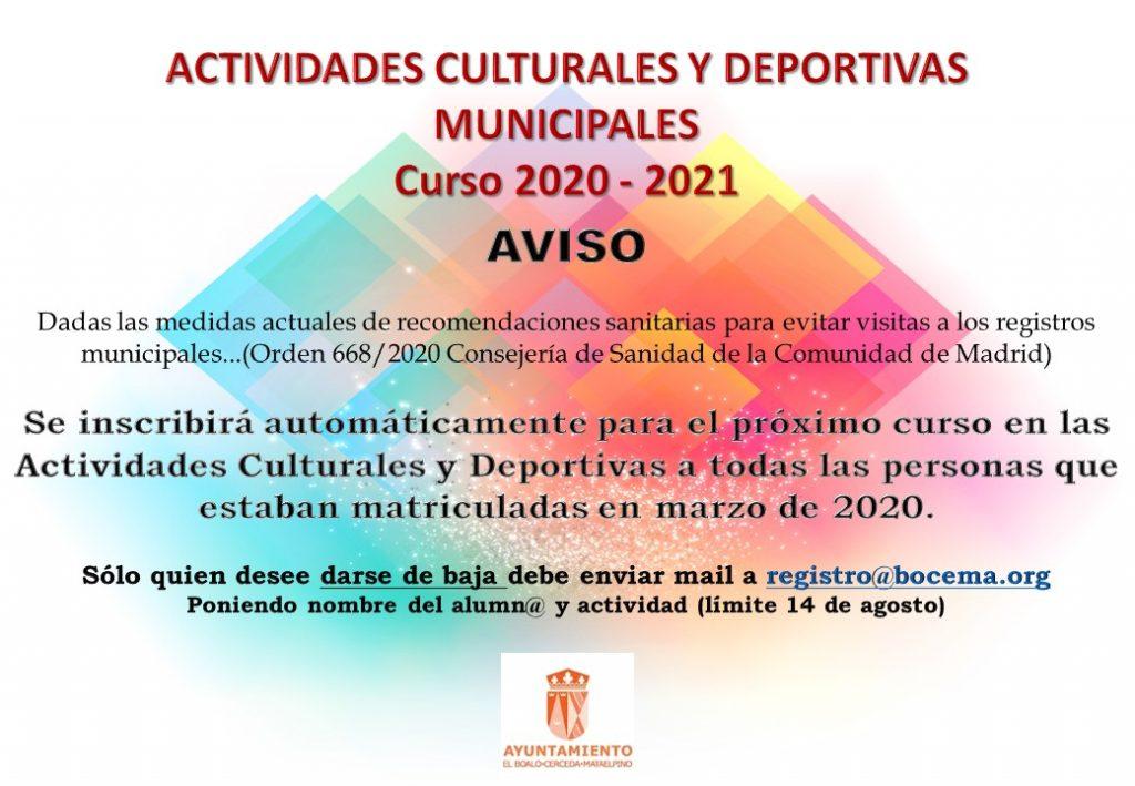actividades municipales curso próximo